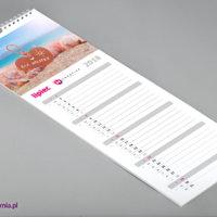 Na kartach personalizowanych kalendarzy ściennych SLIM znajduje się dużo miejsca na notatki.