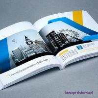 Katalog klejony wydrukowany w pełnym kolorze na kredzie matowej 170 g/m2.