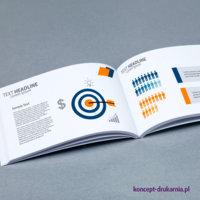 Eleganckie broszury klejone są dobrym narzędziem do prezentacji firmy bądź produktów.