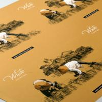 Arkusz próbny wydrukowany na złotym papierze Aurum 300 g/m2.