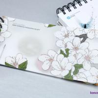 Transparentny papier syntetyczny EnDuro Ice zadrukowany z użyciem białej farby.