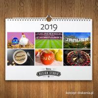 Personalizowany kalendarz spiralowany w formacie A4 poziom.