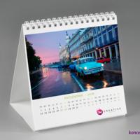 Karty kalendarza biurkowego SQUARE wydrukowane na kredzie matowej 200 g/m2.