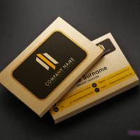 Wizytówka dwustronna wykonana na złotym podłożu Aurum 300 g/m2.
