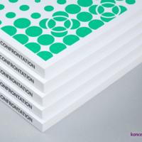 Okładki katalogów klejonych wydrukowane na kredzie matowej 250 g/m2, pokryte aksamitną folią soft touch.