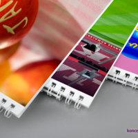 Ścienne kalendarze personalizowane oprawiane są przy użyciu metalowej spirali.