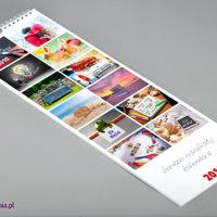 Pierwsza strona kalendarza ściennego SLIM zawiera 12 personalizowanych zdjęć pochodzących ze stron kalendarium.
