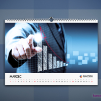 Kalendarze wiszące zadrukowujemy jednostronnie w kolorystyce CMYK.