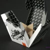 Dwustronnie zadrukowane pudełko PIRABOX, doskonale nadaje się, jako opakowanie na drobne upominki.