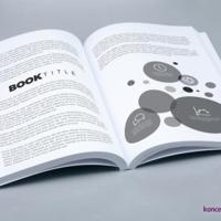 Druk środka książki kolorem czarnym na papierze offsetowym 90 g/m2.
