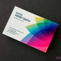 Efektowne wizytówki, które wydrukowaliśmy na ozdobnym papierze Nettuno Bianco Artico 280 g/m2 (nadruk jednostronny).