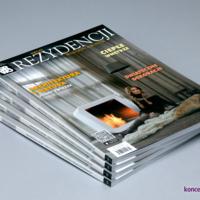 Okładka magazynu Świat Rezydencji Wnętrz i Ogrodów wydrukowana na papierze kredowym 250 g/m2, pokryta folią błysk jednostronnie.