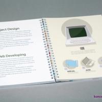 Oprawa spiralowana zapewnia niezwykłą wygodę korzystania. Środek katalogu wydrukowany na kredzie matowej 150 g/m2.