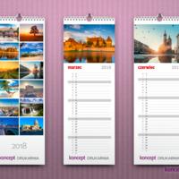 Funkcjonalny terminarz w formie kalendarza ściennego.