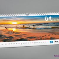 Zastosowanie atrakcyjnego zdjęcia sprawi, że firmowy kalendarz będzie także ozdobą wnętrza.