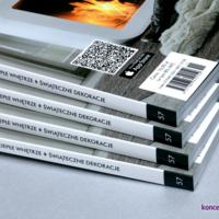 Okładki broszury zadrukowane w kolorystyce CMYK, pokryte folią błysk.