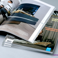 Katalogi klejone w miękkiej oprawie PUR, format A4.