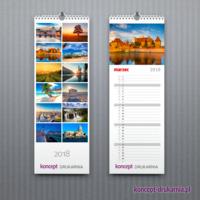 Praktyczne kalendarium w kalendarzach typu SLIM zawiera mnóstwo miejsce na robienie notatek.
