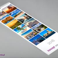 Wszystkie karty kalendarza wydrukowane są na kredzie matowej 200 g/m2.
