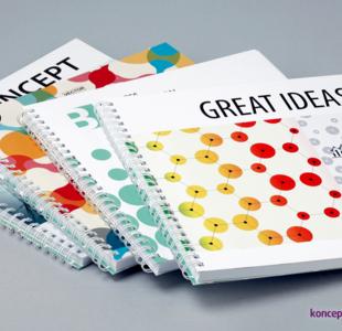broszury spiralowane KWADRAT 21 x 21 cm