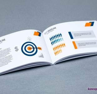 broszury klejone A6 poziom