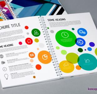 broszury spiralowane A5 pion
