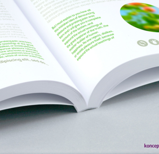broszury klejone A5 pion