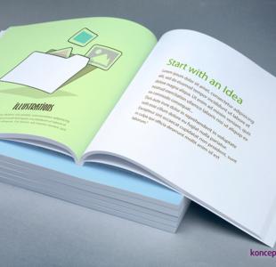 broszury klejone KWADRAT 21 x 21 cm