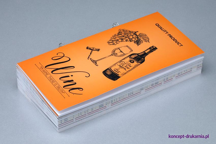 Katalogi wydrukowane na papierach kredowych.