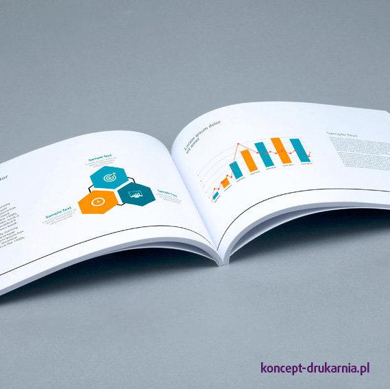 Środek broszury klejonej wydrukowany na kredzie matowej 150 g/m2.