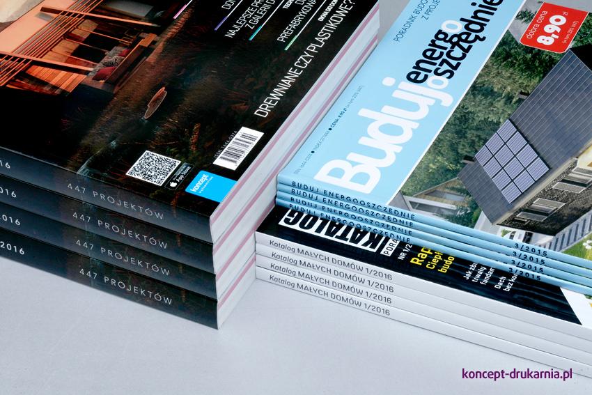 Katalogi dzięki oprawie klejem PUR są wyjątkowo wytrzymałe i trwałe.