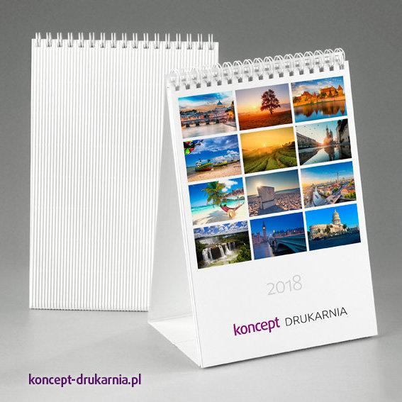Pionowy kalendarz biurkowy TALL w wersji delux z ozdobnym stojakiem.