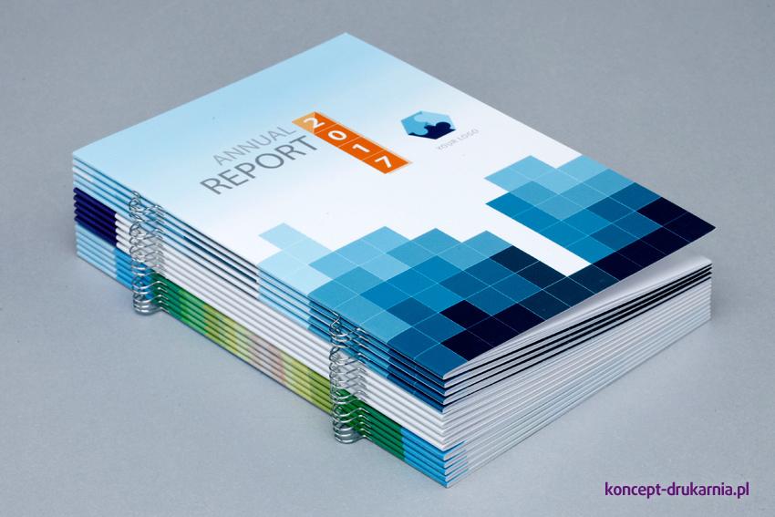 Wydruk broszur w formacie A5 z zastosowaniem eurozszywek.
