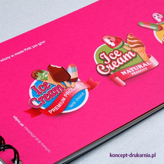 Papier ozdobny barwiony w masie Cosmo Pink 320 g/m2 zadrukowany w kolorach CMYK + biały.