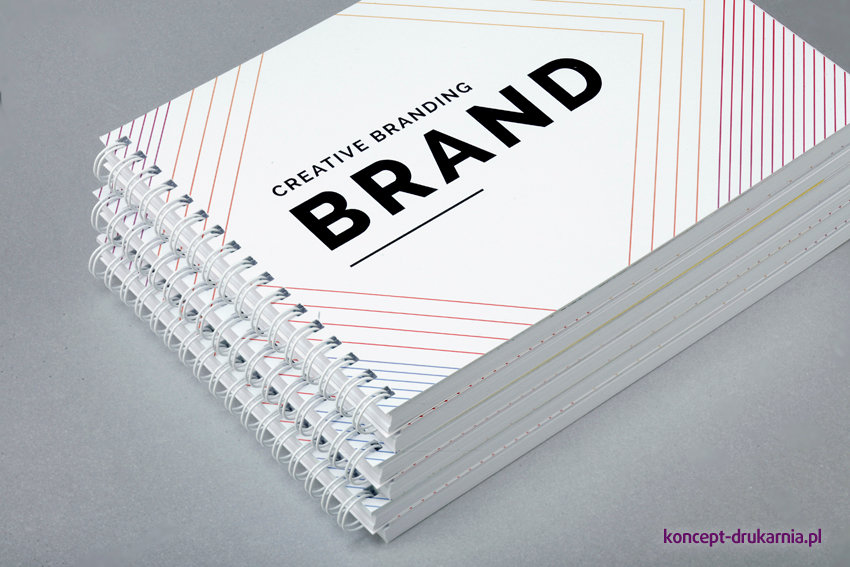 broszury spiralowane A5 poziom