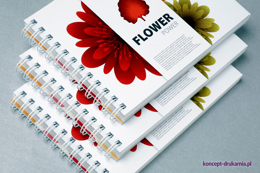 broszury spiralowane A6 poziom