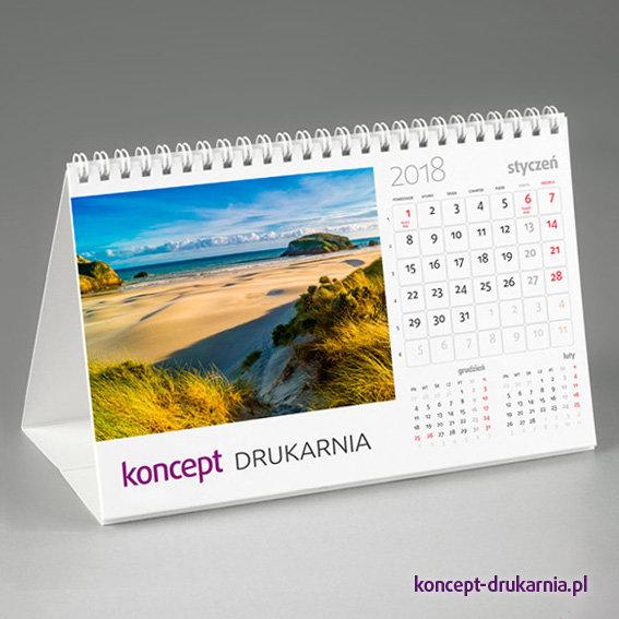 Wygodny kalendarz biurkowy z logo Twojej firmy.