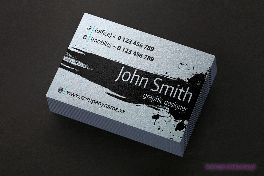 Druk wizytówki na srebrnym papierze ozdobnym Platinum 300 g/m2
