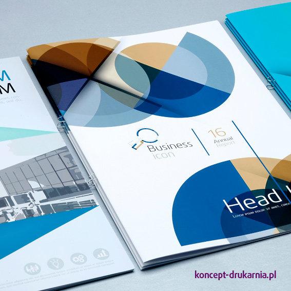 Eleganckie broszury szyte z eurozszywkami.