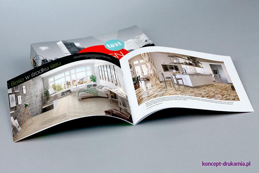 broszury szyte A5 poziom