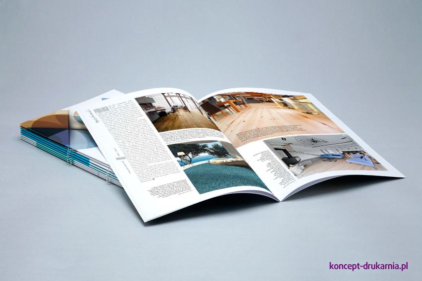 Kolorowy folder 8-stronicowy z wykorzystaniem eurozszywek.