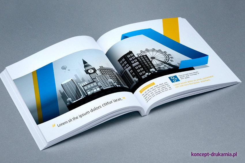 broszury klejone KWADRAT 12 x 12 cm