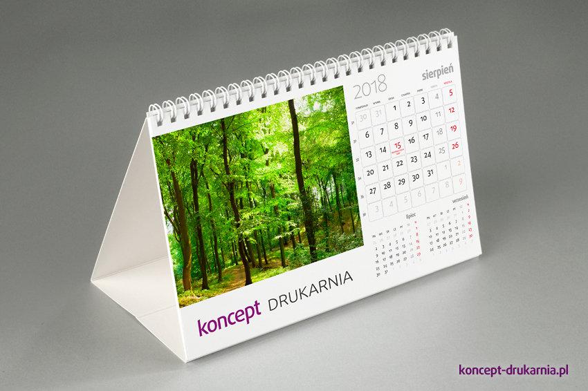 Miesięczne kalendarium zawiera wybraną przez Ciebie dużą kolorową grafikę.