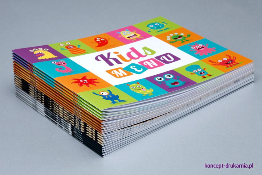 Kolorowe broszury poziome wydrukowane w drukarni Koncept.