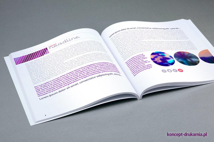 Wnętrze katalogu wydrukowane na kredzie matowej 150 g/m2.