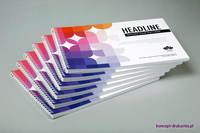 broszury spiralowane A4 poziom