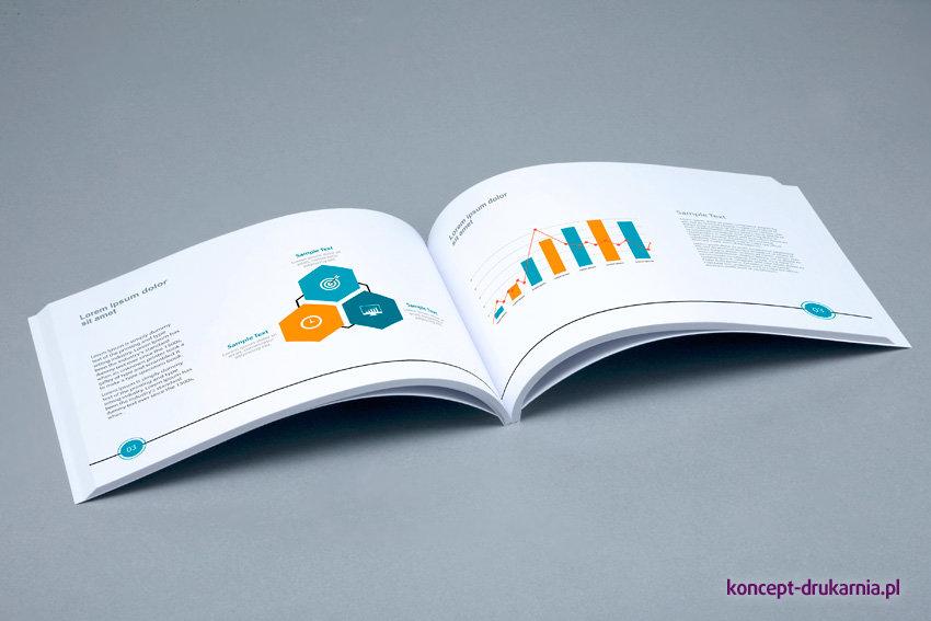 broszury klejone A5 poziom