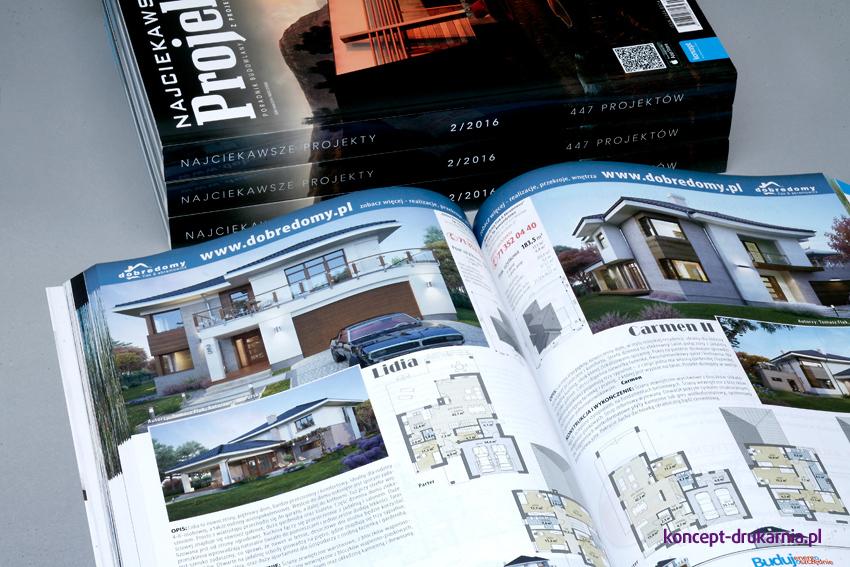 Wnętrze magazynu Najciekawsze Projekty wydrukowane na matowym papierze kredowym 115 g/m2.
