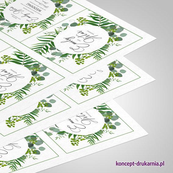 Druk próbny na papierze ekologicznym Cocoon offset 350 g/m2.