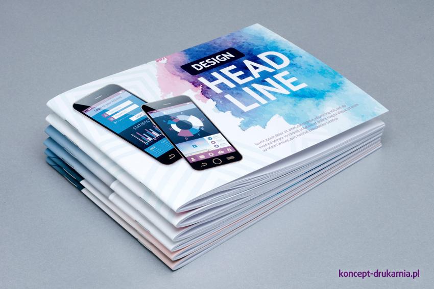 broszury szyte A6 poziom